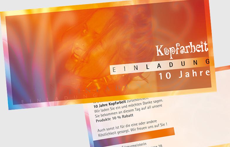 einladungskarte zum 10-jährigen firmenjubiläum - hannover